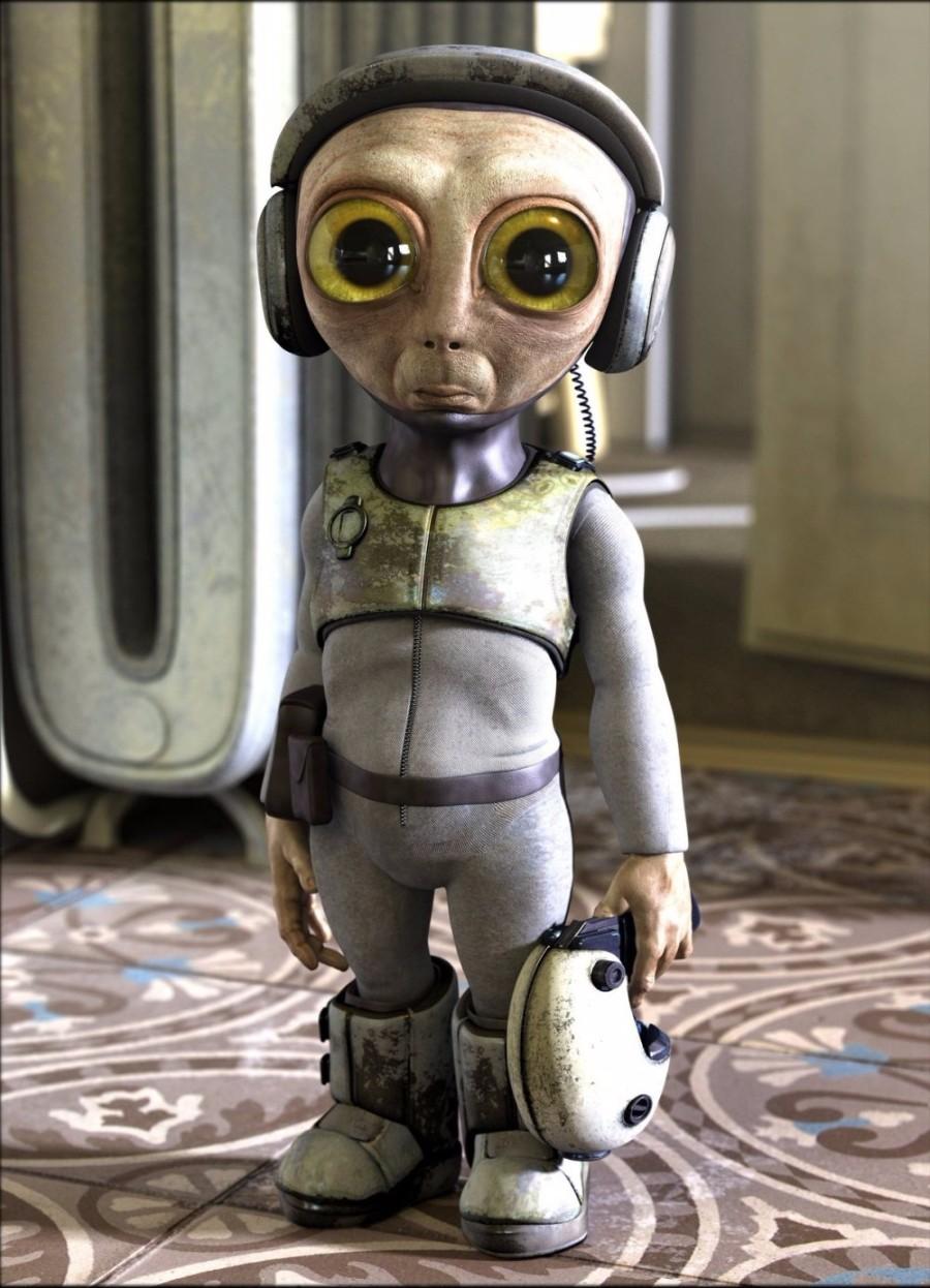 Глазастый инопланетянин