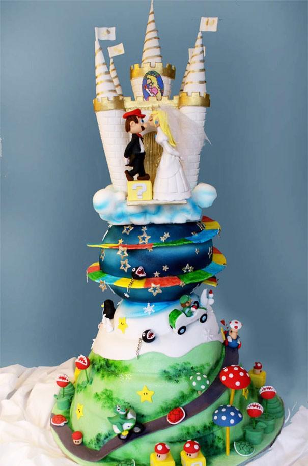 Тортик в стиле Марио