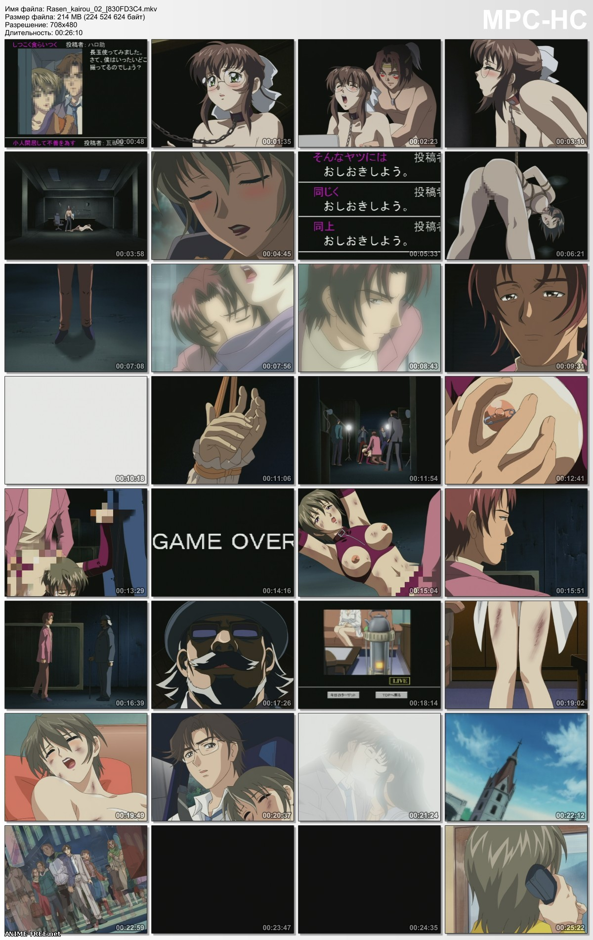 Rasen Kairou / Спираль отчаяния [2 из 2] [JAP] Anime Hentai