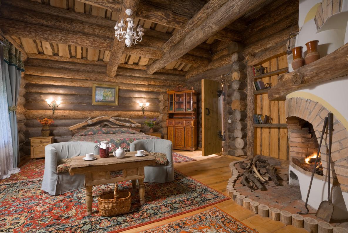 Интерьер дачи в деревенском стиле
