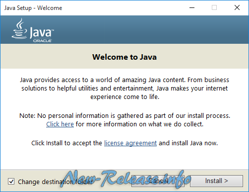 Java Runtime Environment 9.0 Build 149