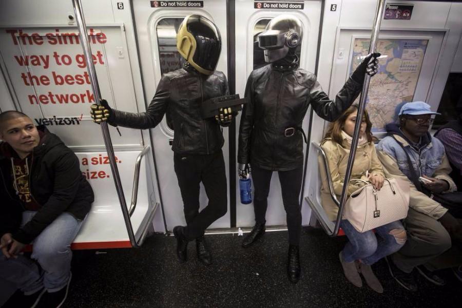 Дафт Панк в метро