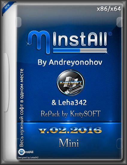 MInstall X86-X64 by KrotySOFT v.02.2016 [Rus/2016]