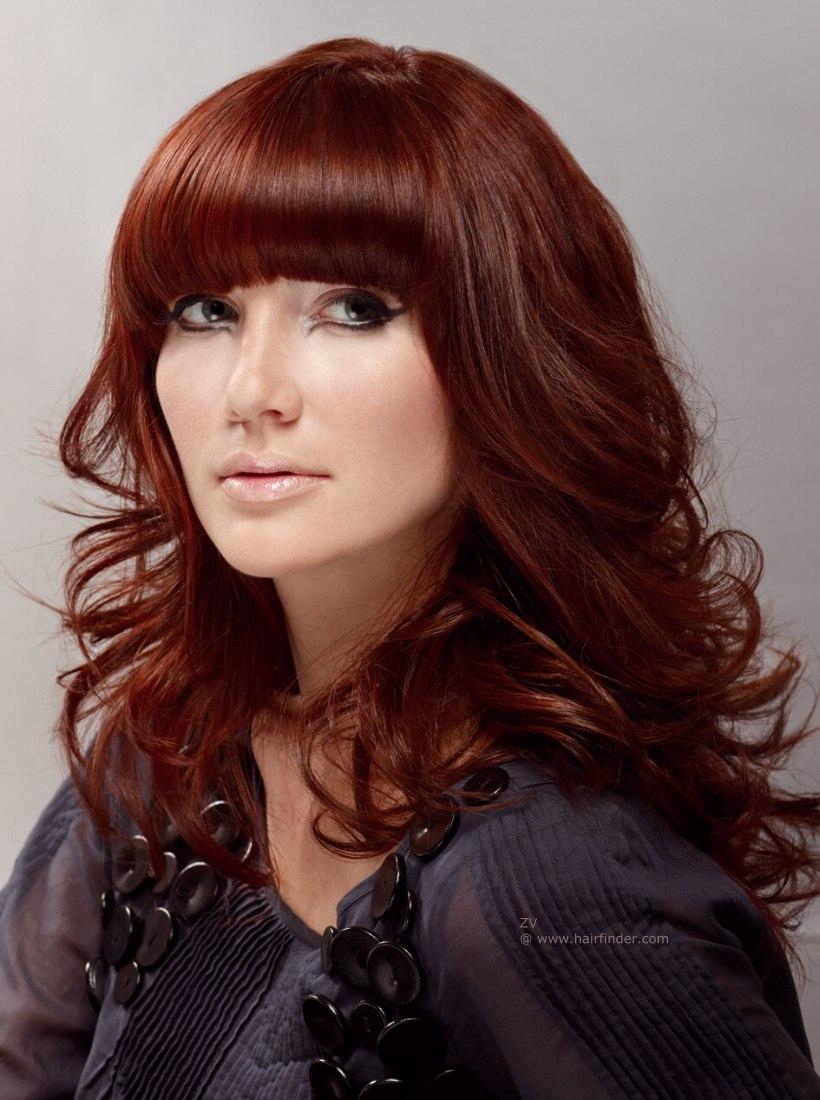 Рыжий цвет на темных волосах