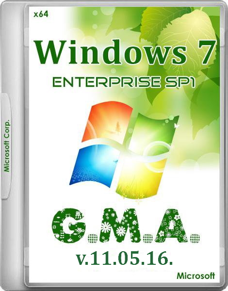 Windows 7 Enterprise SP1 x64 RUS G.M.A. v.11.05.16.