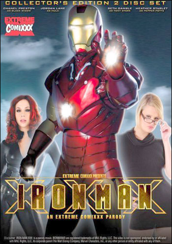 Постер:Железный человек, XXX Пародия / Iron Man XXX: An Extreme Comixxx Parody (2011) DVDRip