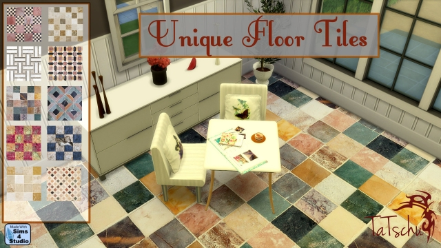 Unique tile flooring