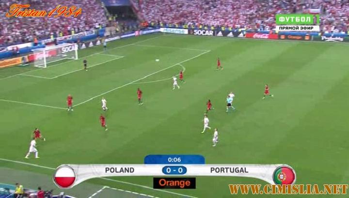 Футбол. Чемпионат Европы 2016. 1/4 финала. Польша - Португалия  [30.06] [2016 / HDTVRip]