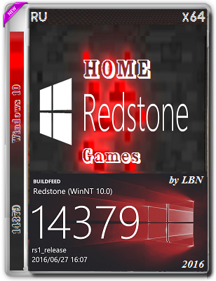 Windows 10 Home 14379 rs1 by Lopatkin Games (x64) (2016) Rus