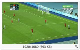 Футбол. XXXI Летние Олимпийские Игры 2016. Мужчины. Группа D. 1-й тур. Португалия - Аргентина [Футбол 3 HD] [04.08] (2016) HDTV 1080i