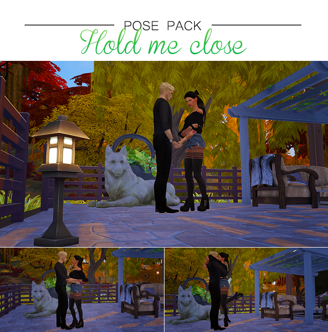 Hold Me Close Pose Pack by Solistair