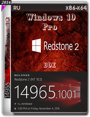 Windows 10 Pro 14965 rs2 BOX by Lopatkin (x86-x64) (2016) Rus