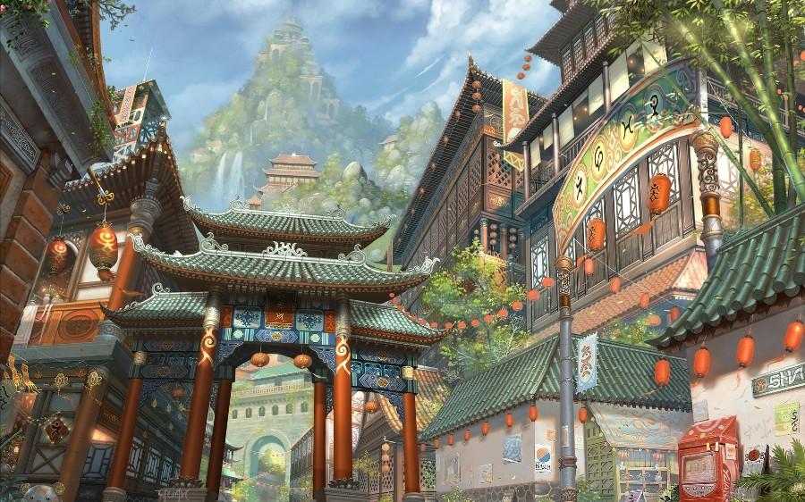 Азиатский городок