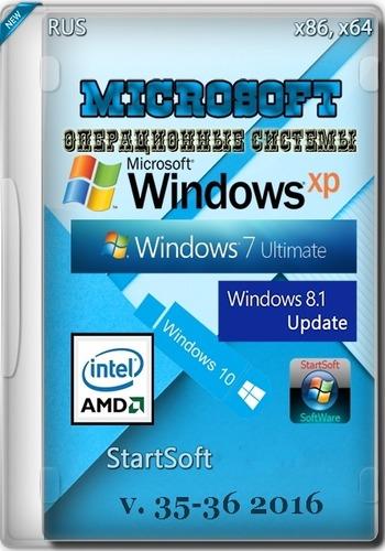 Microsoft Windows Universal StartSoft 35-36 (x86-x64) (2016) Rus