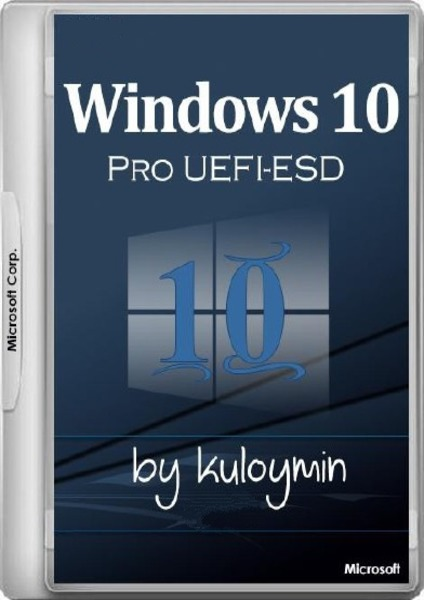 Windows 10 Pro by kuloymin v5.1 (esd) (x64|UEFI) (2016) Rus