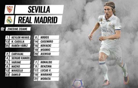 """Заявка """"Мадрида"""" на игру против """"Севильи"""""""