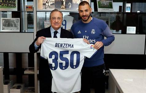 """Бензема провел 350-й матч за """"Мадрид"""""""