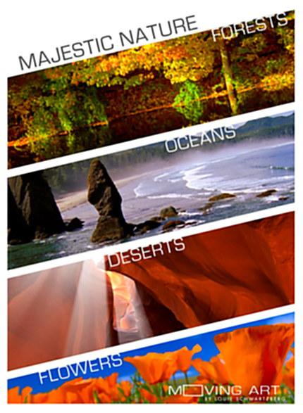 Majestic Nature / Величественная природа: Леса, Океаны, Пустыни, Цветы (2015) BDRip (части 1-4 из 4) [H.264/1080p]