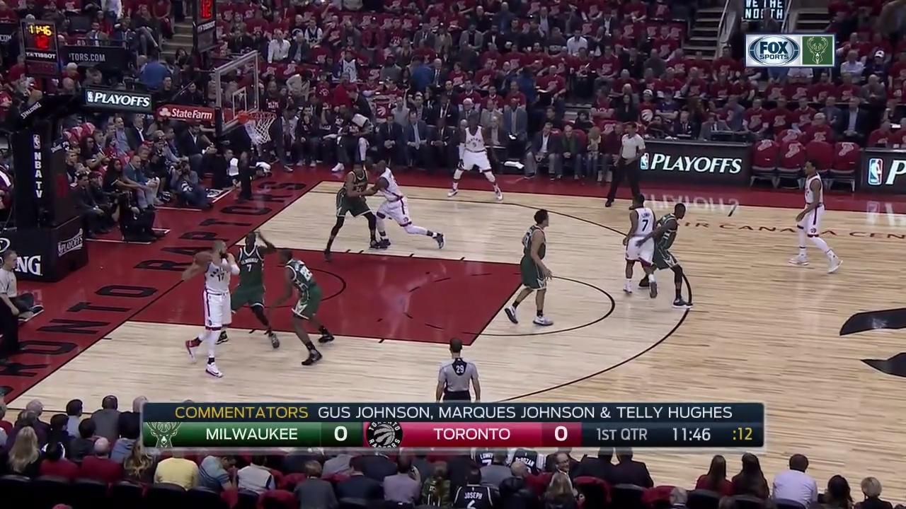NBA 16/17 Playoff Rnd1 Gm2 - Milwaukee Bucks @ Toronto ...