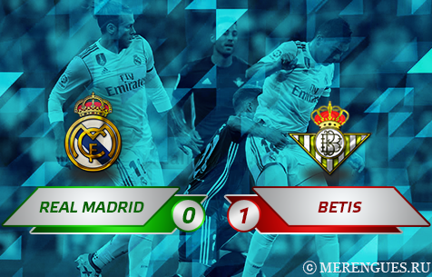 Real Madrid C.F. - Real Betis Balompie 0:1