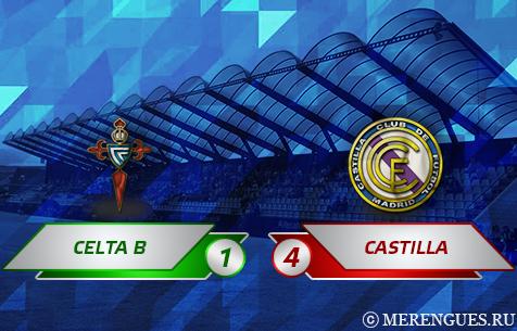 Celta de Vigo B - Real Madrid Castilla 1:4