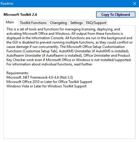 Microsoft Toolkit 2.6.3 Stable (2017) РС