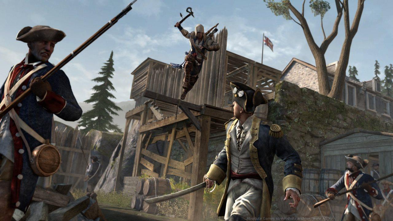Assassin's Creed 3 [v 1.06] (2012/PC/Русский), RiP от qoob