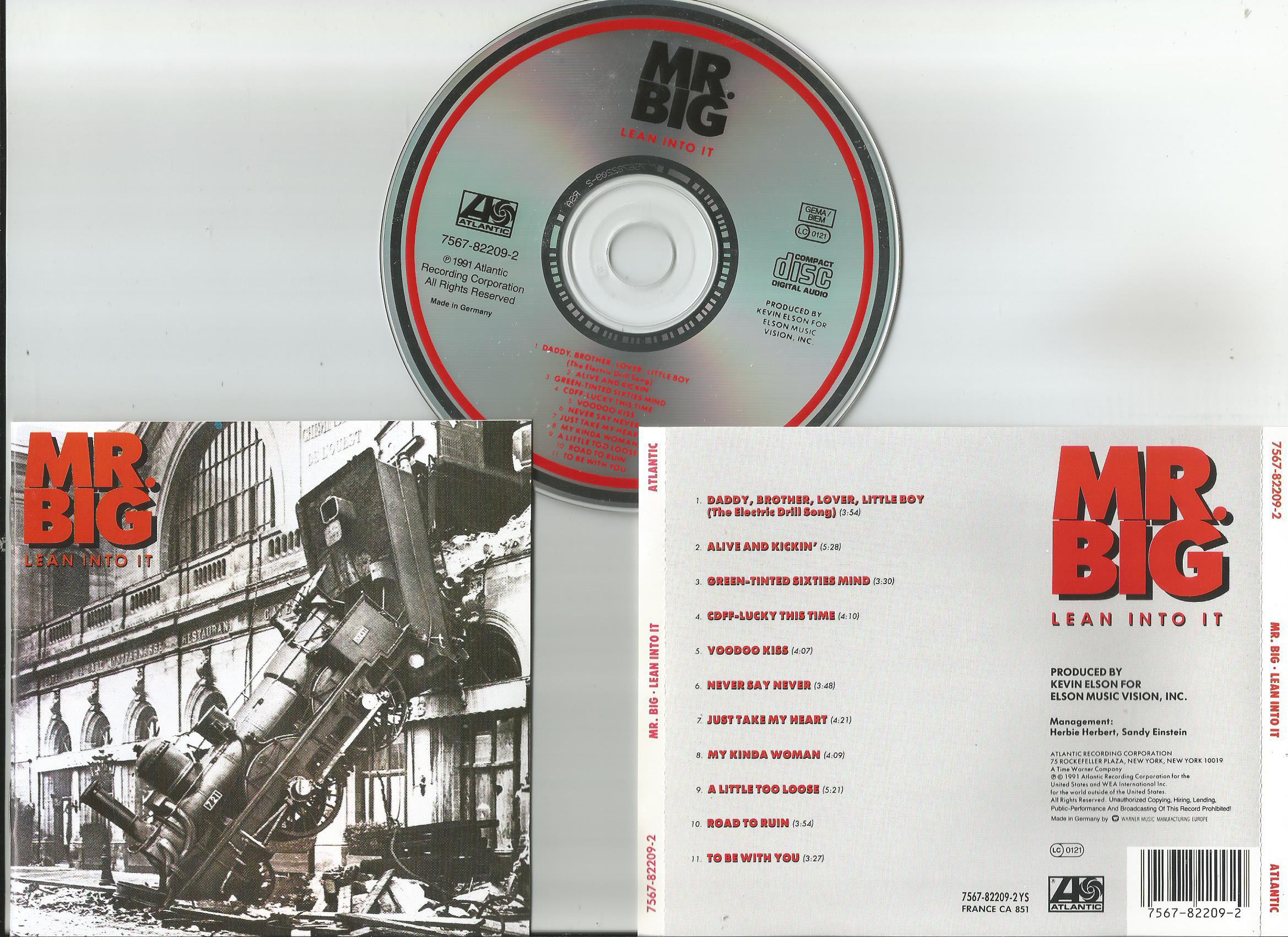 Mr Big Lean Into It Records Lps Vinyl And Cds Musicstack