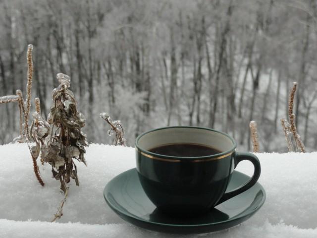 Хорошего дня картинки зима кофе