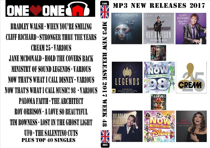 MP3 NEW RELEASES 2017 WEEK 48