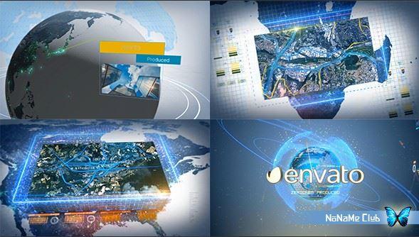 Проекты - VideoHive - Digital Earth Motion Graphics - 18998389 [AEP]