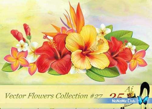 Векторный клипарт - Vector Flowers Collection #27 [AI]