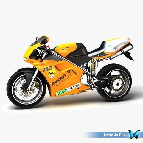 3D модели - 3DExport - Ducati 748 [V-Ray|*.max, OBJ, FBX, MTL]