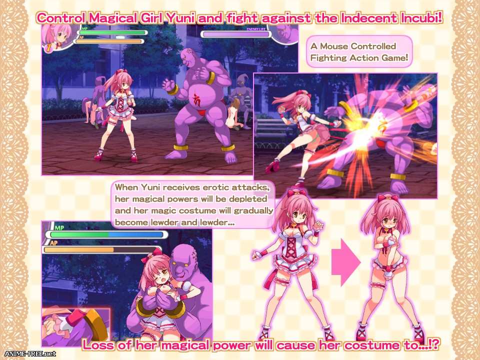 Magical Girl Yuni Defeat! [2017] [Cen] [Action, Fighting] [ENG] H-Game