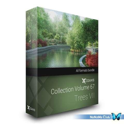 3D модели - CGAxis - Models Volume 67 Trees VII [V-Ray|*.max, C4D, FBX, MB, OBJ]