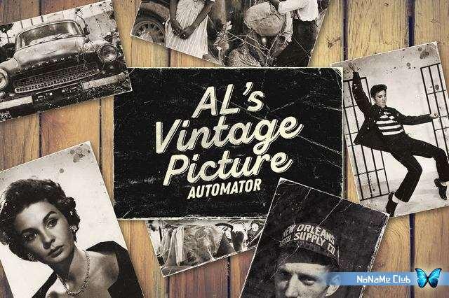 Текстуры - Creative Market - AL's Vintage Picture Automator - 2122207 [PSD]