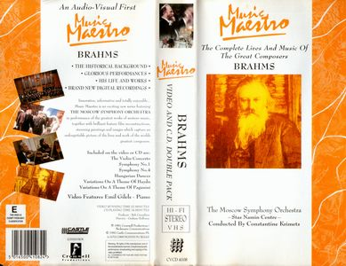 Music maestro. Brahms, The complete live and music of the great composers (1992) VHSRip (H.264)