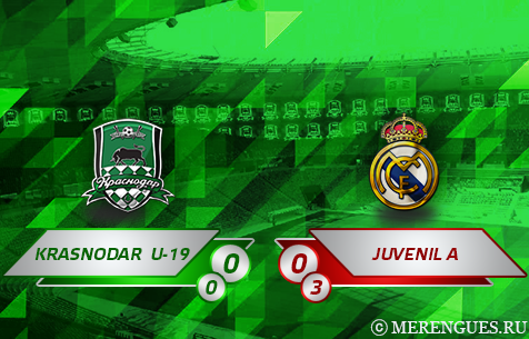 FC Krasnodar U-19 - Real Madrid Juvenil A 0:0 (0:3 по пен.)
