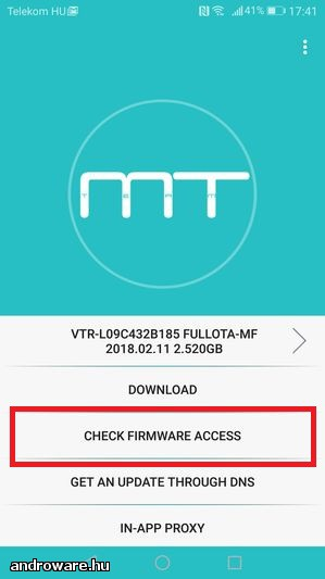 Huawei P10 VTR-L29 DUAL SIM és a Huawei P10 VTR-L09 Roolback