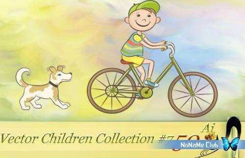 Векторный клипарт - Vector Children Collection #7 [AI]