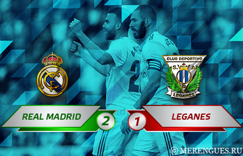 Real Madrid C.F. - CD Leganes 2:1