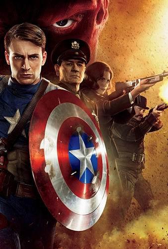Первый мститель / Captain America: The First Avenge (Джо Джонстон / Joe Johnston) [2011, США, фантастика, боевик, приключения, WEB-DLRip] [Open Matte] Dub