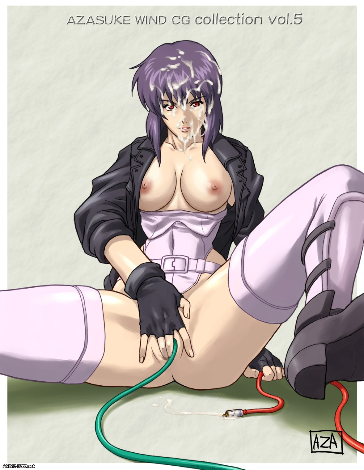 (Collection) Ghost in the Shell / Призрак в доспехах [Ptcen] [JPG,PNG,GIF] Hentai ART