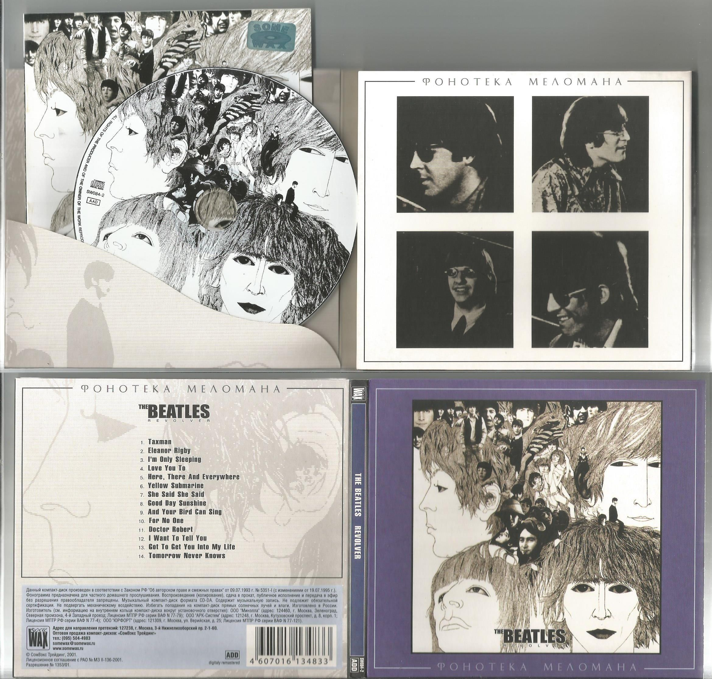 BEATLES - Revolver (foldout Digipack With 8page Booklet Lyrics Included, Track Listing On Cd's Working Side, P