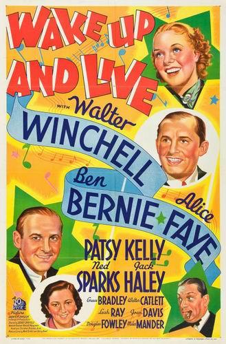 Проснись и пой / Wake Up and Live (Сидней Лэнфилд / Sidney Lanfield) [1937, США, мюзикл, комедия, DVD5 (Custom)] VO (Владимир Воронцов) + Original Eng