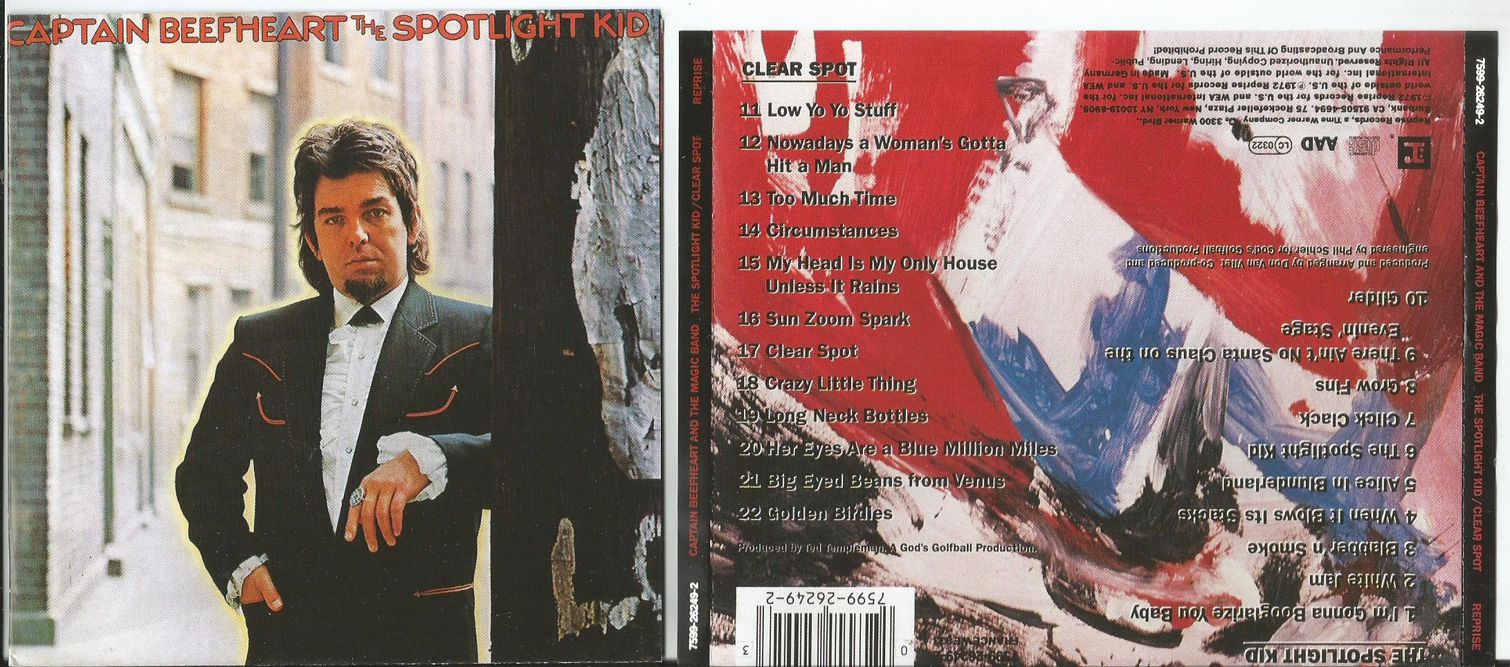 CAPTAIN BEEFHEART &THE MAGIC BAND - The Spotlight Kid/ Clear Spot (2 In 1cd, Poster Mode Booklet)