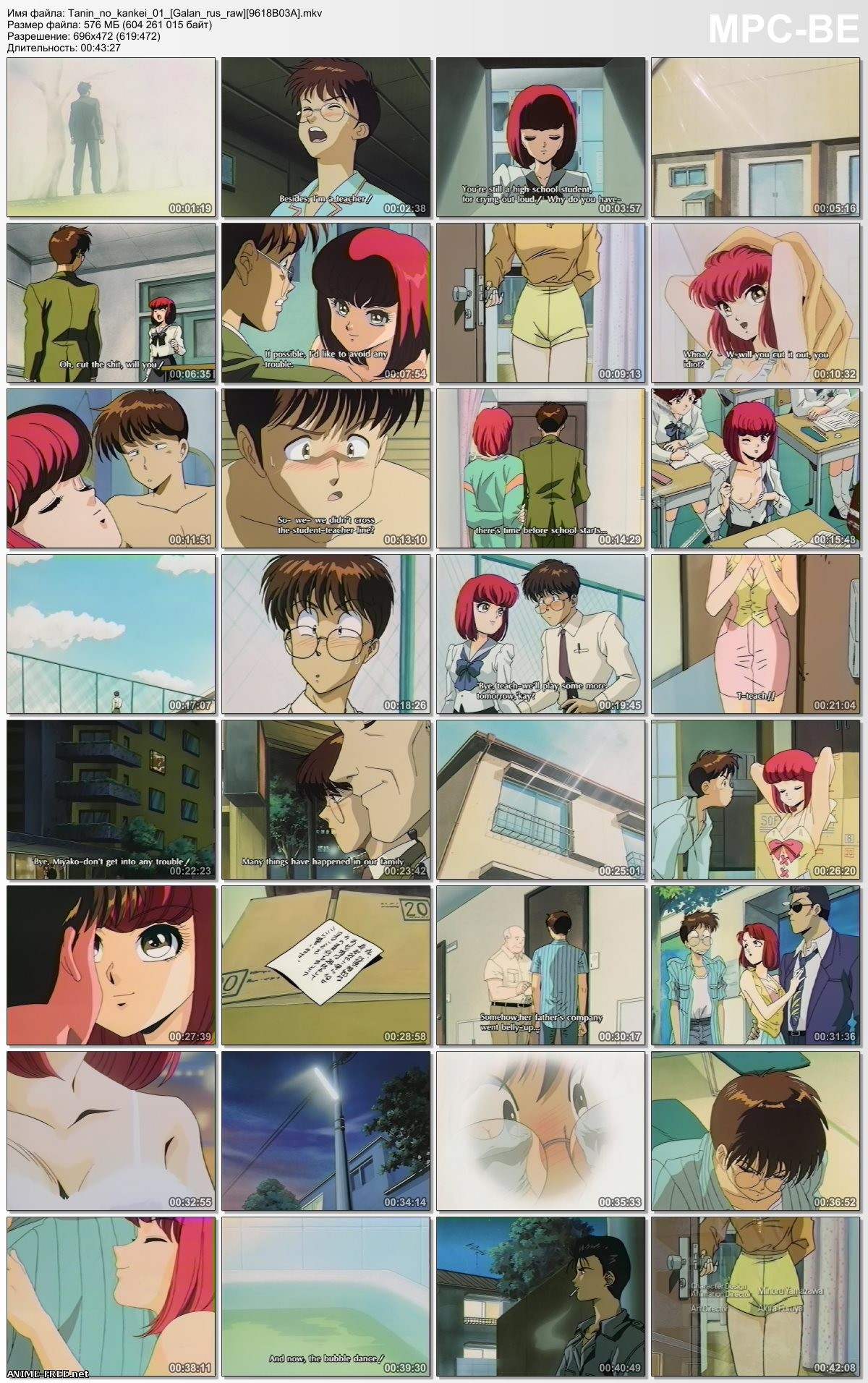 Homeroom Affairs / Human Relations / Tanin no Kankei / Человеческие отношения [OVA] [1994] [Ep.1-2] [RUS,ENG,JAP,UKR] Ecchi