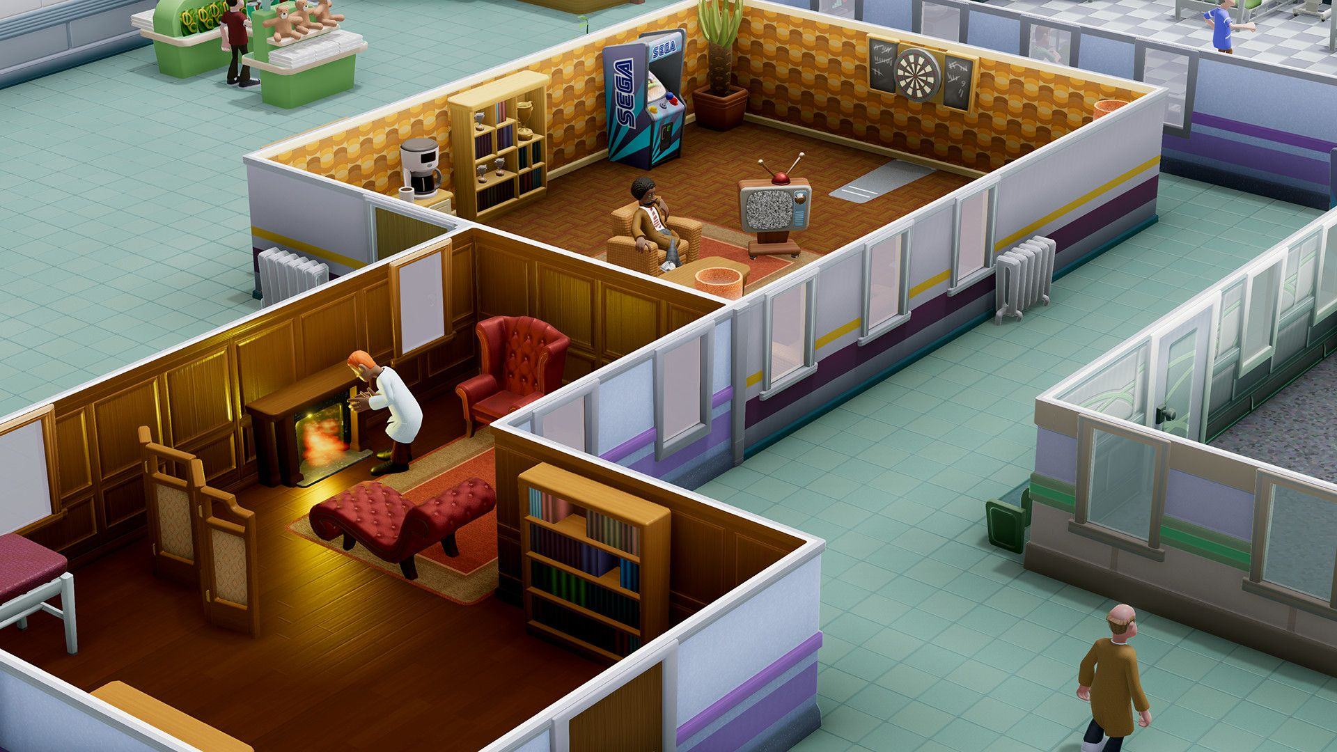 Two Point Hospital [v.1.9.48088] (2018/PC/Русский), RePack by XLASER