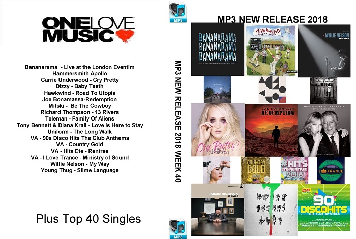 MP3 NEW RELEASES 2018 WEEK 40