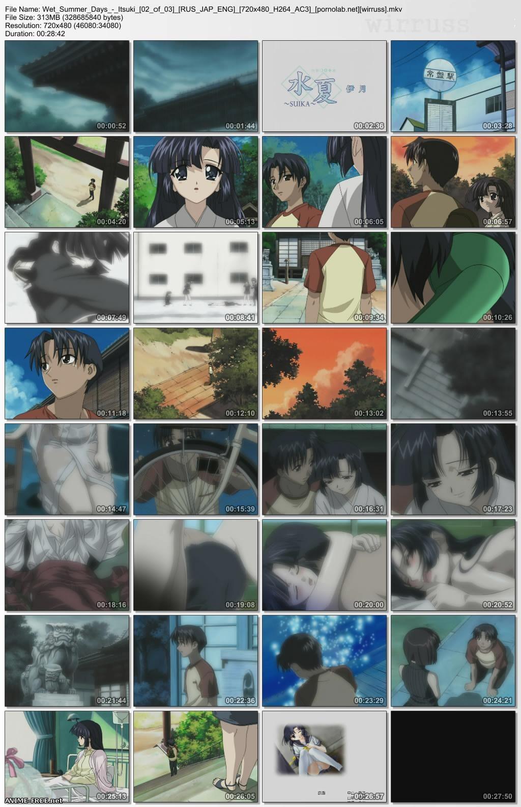 Wet Summer Days / Suika / Влажные дни лета  [Ep.1-3 + 2 SP] [RUS,JAP,ENG] Anime Hentai